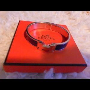Hermes Enamel Bracelet Clic Clac H Classic Bangle